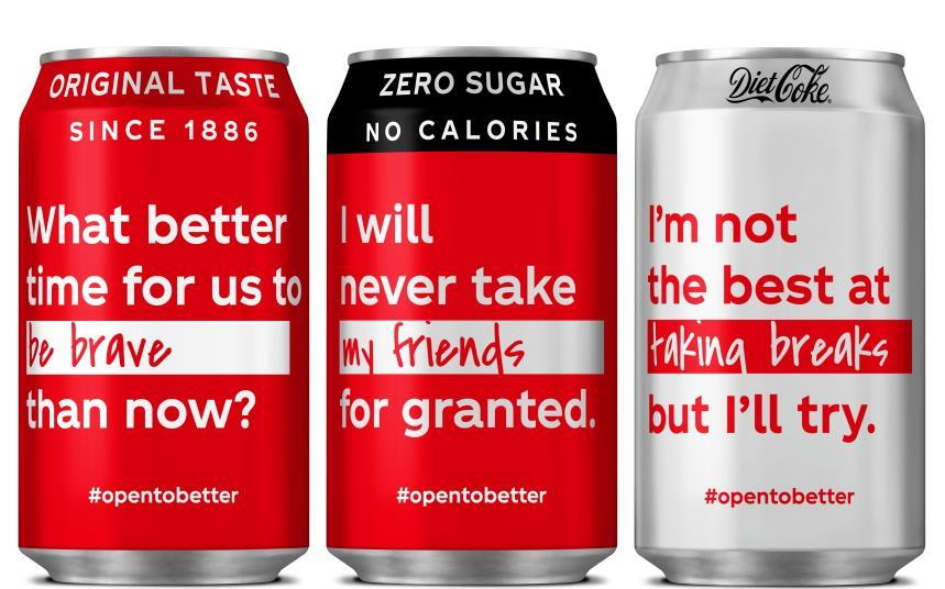 Image result for messages on coke cans