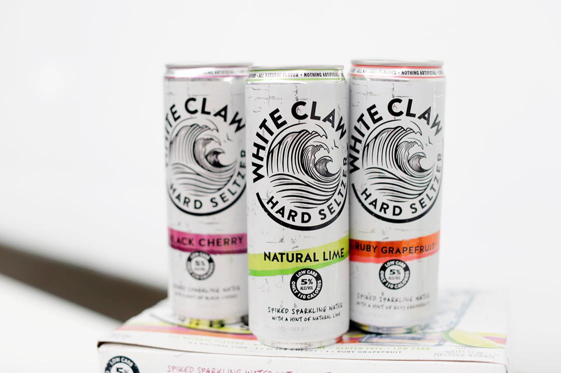 It's just a picture of Dynamic White Claw Hard Seltzer Label