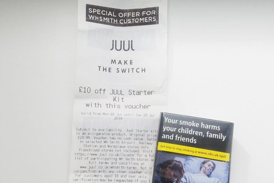 WH Smith sparks anger with £10-off Juul vouchers on all