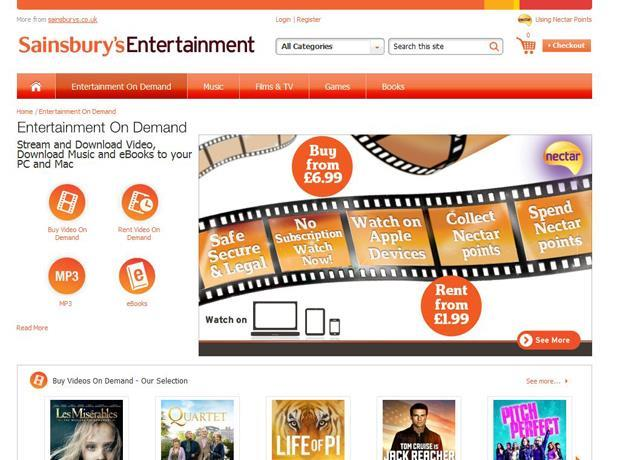 Sainsbury's video-on-demand service goes live