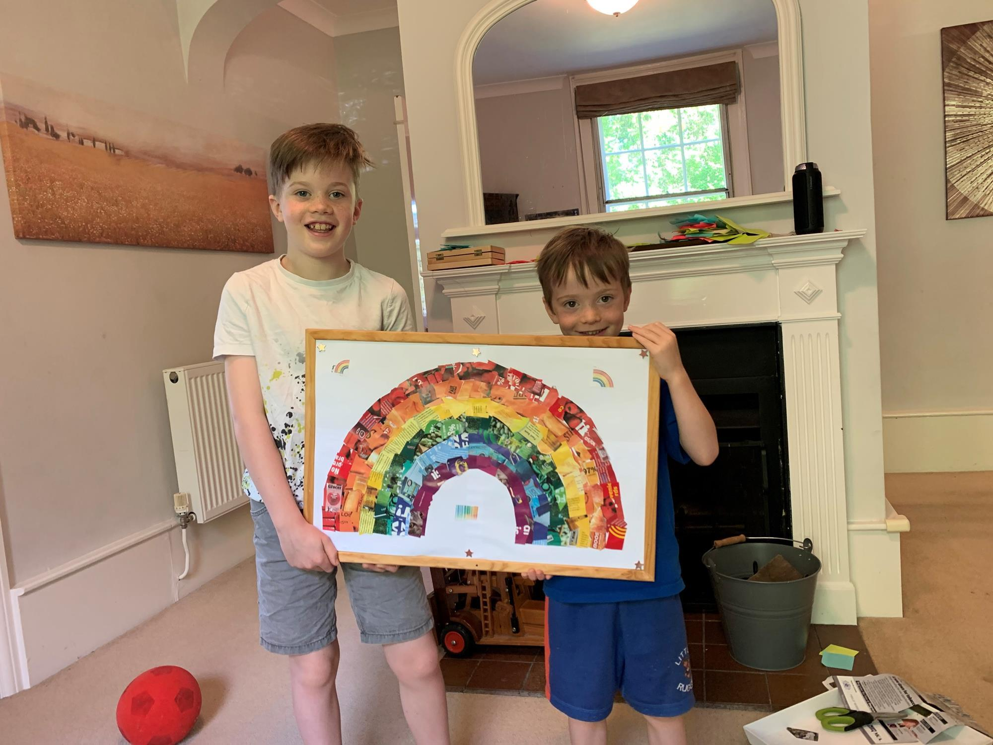 Recycled Into A Rainbow Kids Help The Grocer Make Artistic Impression Bogof The Grocer