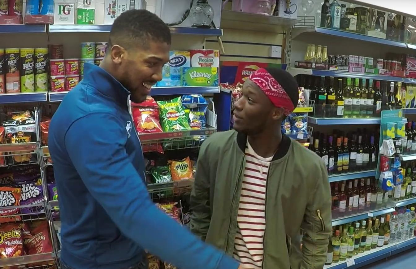 Anthony Joshua shows his fun side for Lucozade Sport