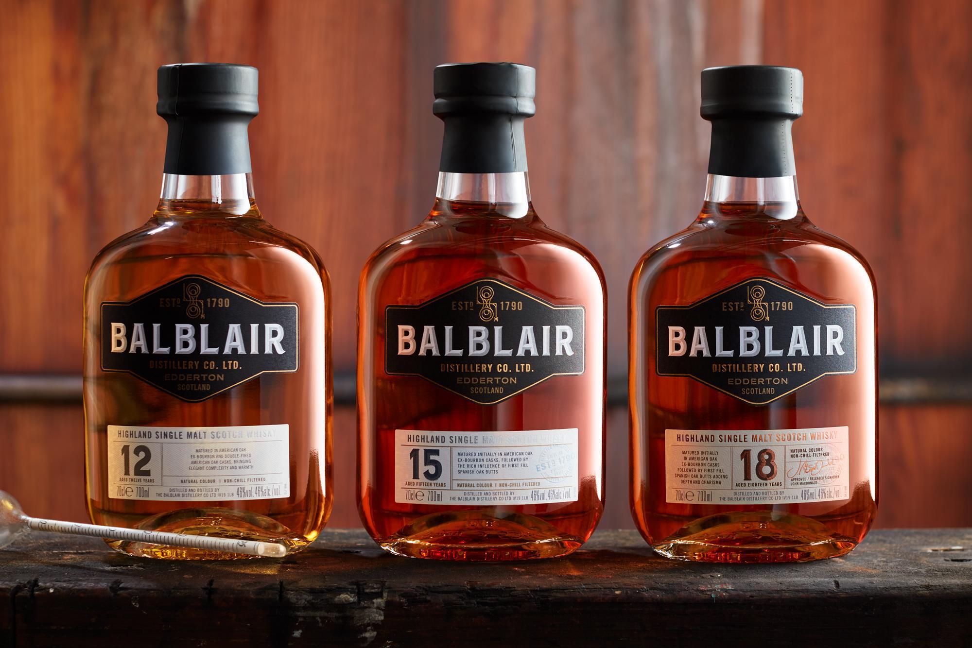 Balblair's New Core Range: Balblair 12 (46%), Balblair 15 (46%), Balblair 18 (46%)