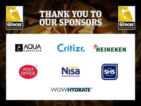 Gold Awards Sponsors Thank You 2020