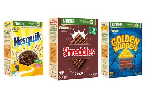 Nestle non-HFSS cereals