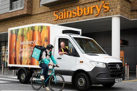 Deliveroo Sainsburys