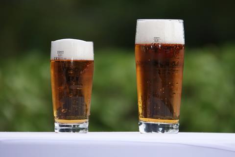 Pub garden pints beer lager