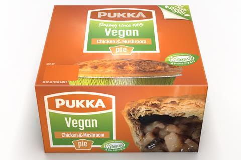 Pukka vegan and chicken pie