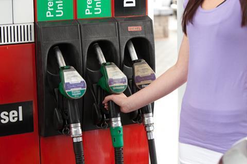 petrol pump forecourt