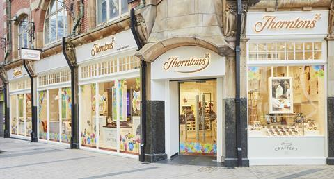 Thorntons store and cafe Belfast - outside