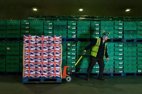 Morrisons staff british fruit and veg warehouse