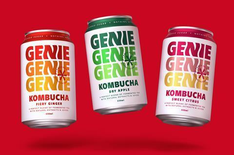 Genie Drinks rebrand