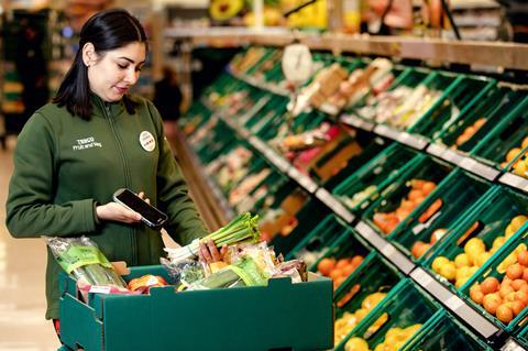 Tesco staff fruit and veg Waste Not Want Not