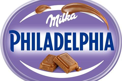 Mondelez Launches Philadelphia Variant With Milka Chocolate