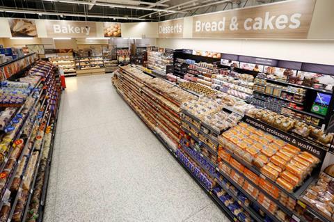 Asda bakery aisle
