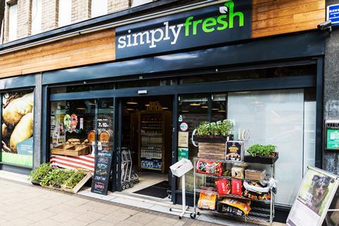 Simply Fresh Bethnal Green store front