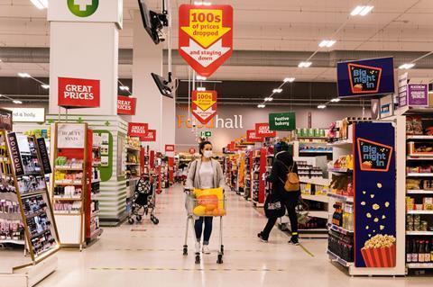 Sainsbury's shopper in store