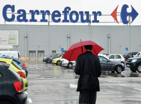 Stormy days for Carrefour