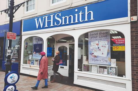 WH Smith store front Shorham Covid