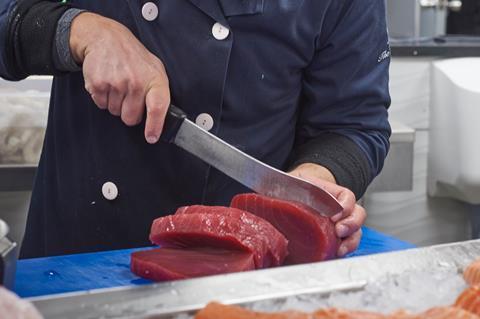 Tuna fishmonger