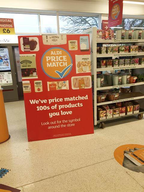 Sainsburys Aldi price match