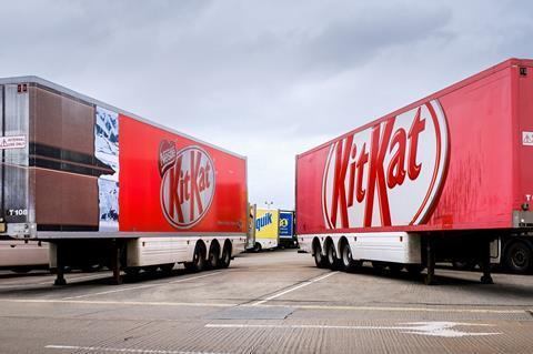 Nestle kit kat lorry lorries