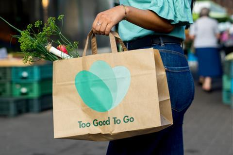 Lady with Too Good To Go bag