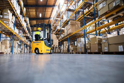 warehouse fork lift driver