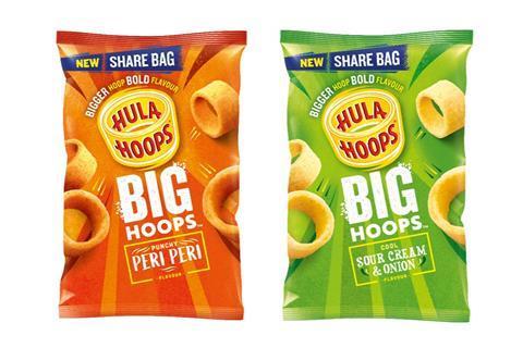 Hula Hoops Big Hoops sharing range