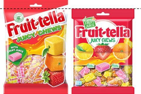 fruittella packs