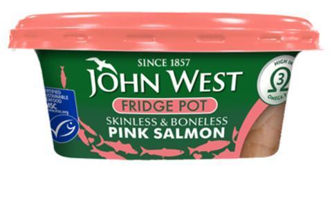 John West salmon fridge pot