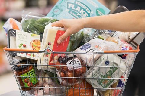 Sainsburys basket plastic packaging web
