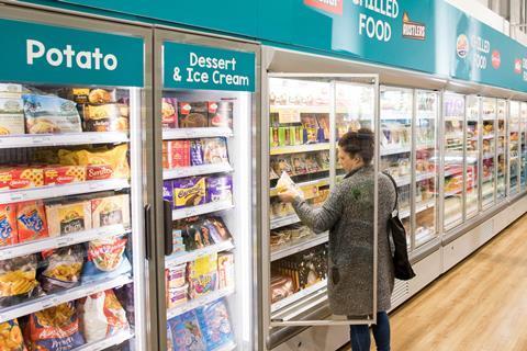 poundland shopper frozen aisle