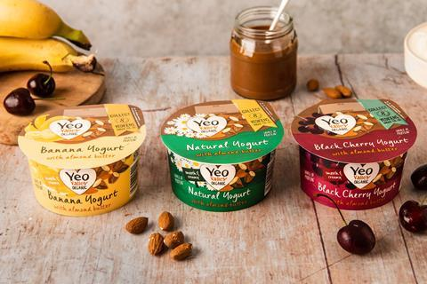Yeo Valley yoghurt with almond butter