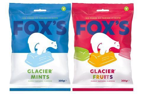 Fox's Glacier new packaging