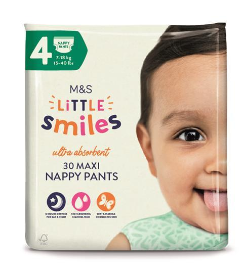 Little Smiles Nappy Pants size 4