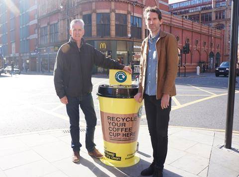 There Are Giant Coffee Cup Bins on the Streets of Manchester