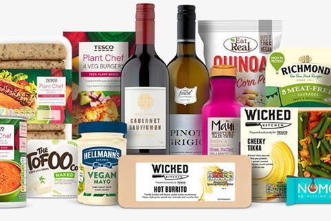 tesco vegan products