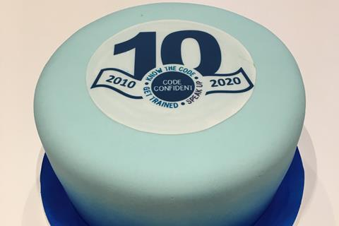10 years of the Code cake