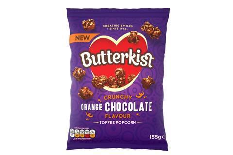 Butterkist Crunchy Chocolate Orange Flavour Toffee Popcorn