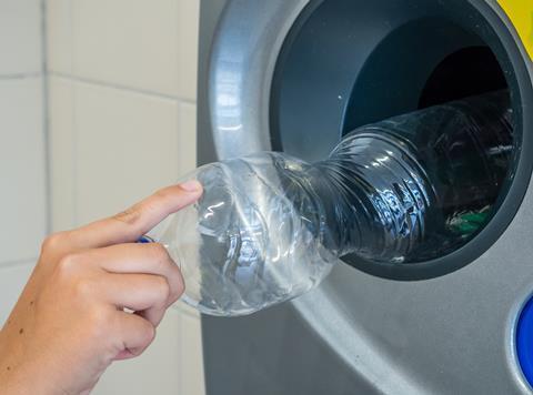 DRS deposit return scheme plastic bottle
