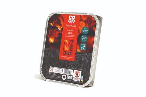 Co-op's new instant barbecue with Put Me Out message