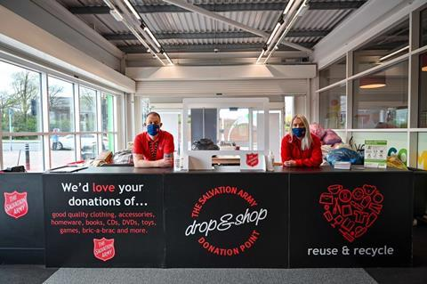 Asda Salvation Army clothes drive