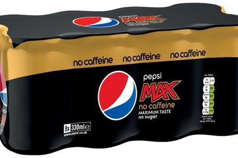 Pepsi MAX No Caffeine - 8x can multipack