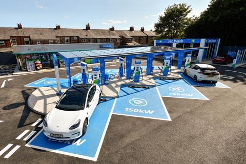 MFG's First EV Only Forecourt Opens In Stretford, Manchester