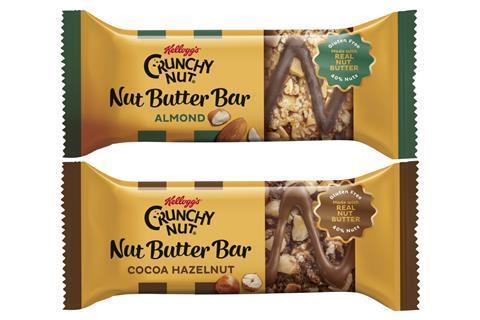 Kellogg's Crunchy Nut Nut Butter Bars