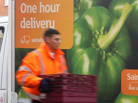 Sainsburys delivery van
