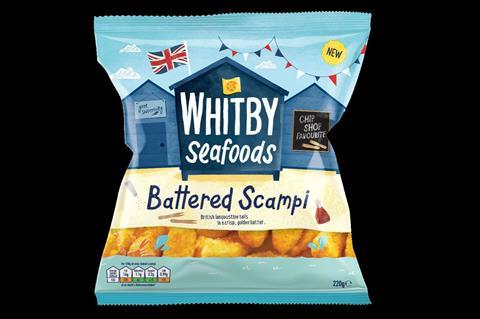 Whitby Seafoods scampi NPD