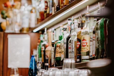 Spirits shelf pub