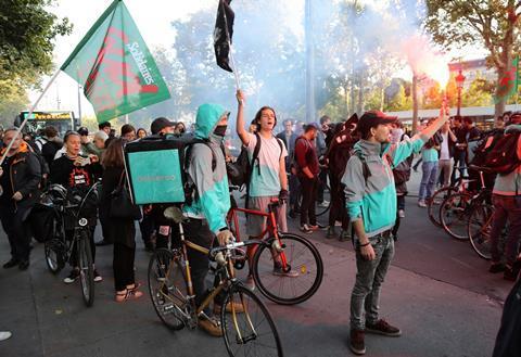 Deliveroo strike protest